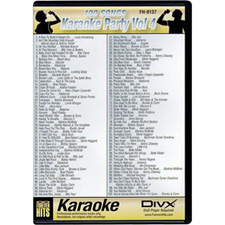 DIVX DVD - 100 Songs on one disc - Karaoke Party Vol 4