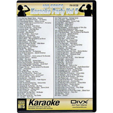DIVX DVD - 100 Songs on one disc - Karaoke Party Vol 5