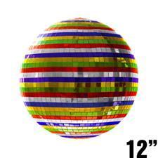 12 inch Multicolored Mirror Ball