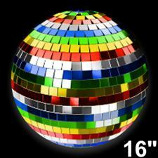 16 inch Multicolored Mirror Ball