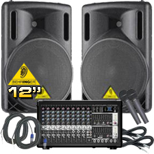 Complete PA System - 1200 Watts - Everything You Need!