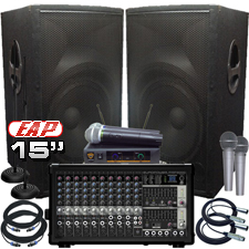 Complete PA System - 800 Watts - Everything You Need!