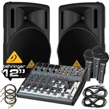 Complete PA System - Behringer Powered Speakers
