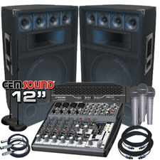 Complete PA System - 2200 Watts - Everything You Need!