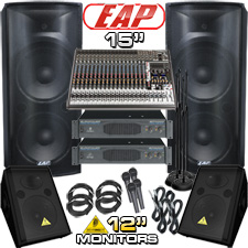 Complete PA System - 6000 Watts - Everything You Need!