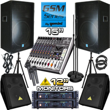 Complete PA System - 5500 Watts - Everything You Need!