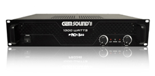 GEMSOUND PRO1300 - 1300 Watt Professional Power Amplifier