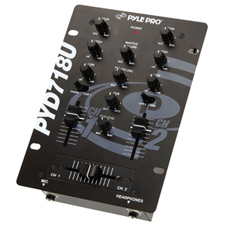 "Pyle Pro 6 1/2"" 2-Channel Mixer with USB"