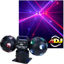 American DJ Rotoballs Tri LED