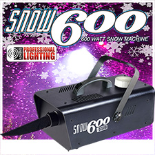 Adkins Pro Lighting 600 Watt Snow Machine