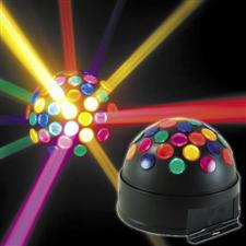 American DJ Sunray LED Mirror Ball Effect - DJ Lighting Sphere