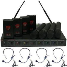 Nady U-81-OCTAVO 8 Channel UHF Headsets and Lavalier System