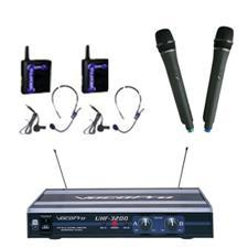 Dual Channel Wireless Mic - Vocopro UHF-3200-PAK