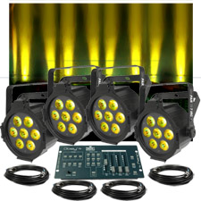 Up-Lighting System - Chauvet SlimPar Tri 7 irc X4