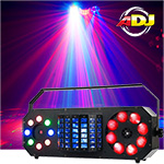 American DJ Boom Box FX2 4-IN-1 Effect Light with Wash, Derby, GOBO Moonflower & Green & Red Laser