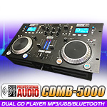 Adkins Pro Audio CDMB-5000 Dual CD Bluetooth MP3 USB Player with Mixer