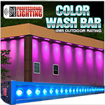 Color Wash Bar RGB Tri-Color 24x3W LED Up Light IP65 Outdoor Rating