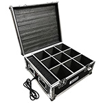 Charging Flight Case for EZ-Up-Light Wireless Battery Lights - Holds 9 Fixtures