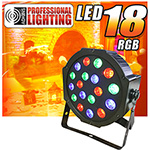 Adkins Pro Lighting LED 18 RGB Color Mixing LED Par Can