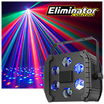 Eliminator Lighting LED Cloud RGBWA Multi Colored Beams
