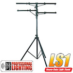12' Heavy Duty Black Tri-Pod Stand w/2 Side Bars - Adkins Pro Lighting