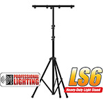 9' Black Tri-Pod Light Stand with cross bar  - Adkins Professional Lighting
