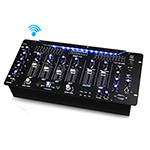 Pyle Pro Bluetooth 6-Channel DJ Mixer 19 inch 5U Rack Mount System Digital LED Illuminated Controls