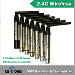 Wireless DMX 512 - 2.4GHz WiDMX System w/6 Receivers
