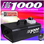 Heavy Duty 1000 Watt Fog Machine W/Remote - Impressive 8,000 Cubic ft. per minute