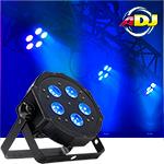 American DJ Mega Hex Par 6-in-1 RGBAW and UV LEDs