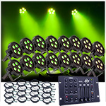 Up-Lighting System -16 American DJ Up Lights w/Easy Controller