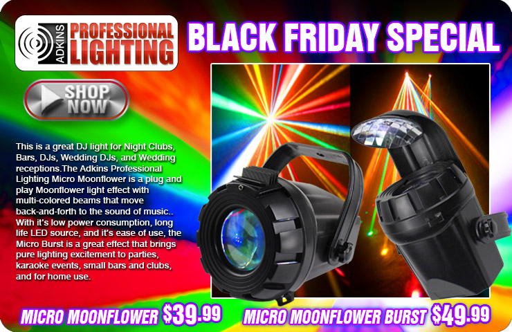 Adkins Pro Lighting Micro Moonflower