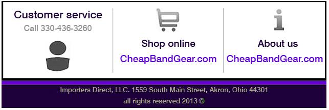 Cheap Band Gear Footer