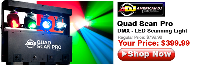American DJ Quad Scan Pro