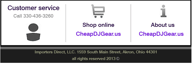 Cheap DJ Gear footer