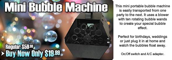 Mini Bubble Machine