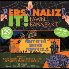 Halloween Personalized Lawn Banner