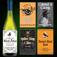 Halloween Party Bottle Labels