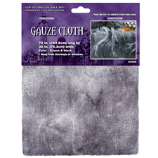 Gauze Cloth Black and Cream