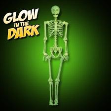 Glow in the Dark Pose-N-Stay Skeleton