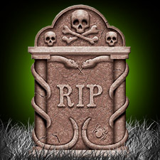 Spooky Snakes Tombstone