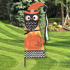 Modern Halloween Feather Flag Yard Stake