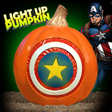 Captain America Light Up Pumpkin