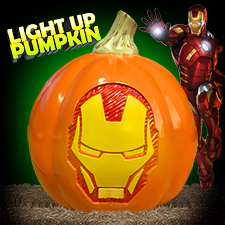 Iron Man Light Up Pumpkin