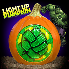 Hulk Light Up Pumpkin