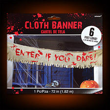 Bloody Creepy Cloth Banner Enter If You Dare