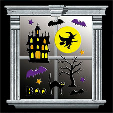 Haunted House Gel Cling