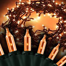 orange light string halloween decorations