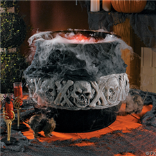 Smoking Skeleton Cauldron Fogger - Halloween Decorations