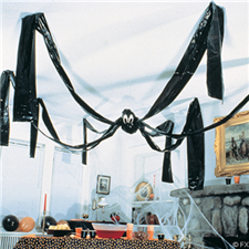 20-Ft. Plastic Giant Hanging Spider - Halloween Decorations